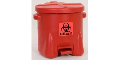 EAGLE - Model 945BIO - BioHazardous Waste Can, 10 Gal. Red Poly