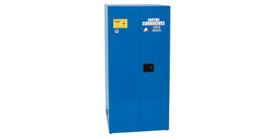 Eagle - Model CRA-62 - Metal Acid & Corrosive Safety Cabinet, 60 Gal. Blue, Two Door, Manual Close