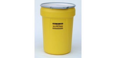 EAGLE - Model 1602 - Salvage Drum, 30 Gal. Yellow with Metal Lever-Lock Ring