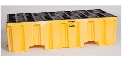 EAGLE - Model 1620 - 2 Drum Pallet - Yellow with Drain