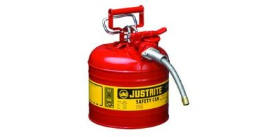 Justrite AccuFlow - Model 7220120 - Type II Steel Safety Can for Flammables 2 Gallon (Red with 5/8 Hose)