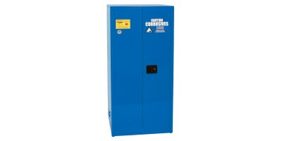Eagle - Model CRA-6010 - Metal Acid & Corrosive Safety Cabinet, 60 Gal. Blue, Two Door, Self Close