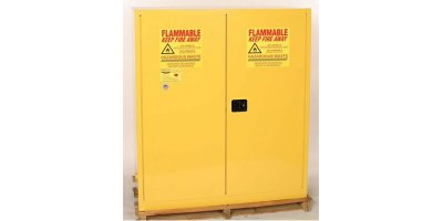 EAGLE - Model HAZ1955 - HAZ-MAT Safety Cabinet, 110 Gal. Yellow, Two Door, Manual Close