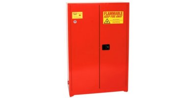 Eagle - Model PI-47 - Paint & Ink Safety Cabinet, 60 Gal. Red, Two Door, Manual Close