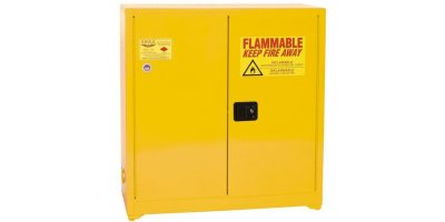 EAGLE - Model YPI-62 - Paint & Ink Safety Cabinet, 96 Gal. Yellow, Two Door, Manual Close