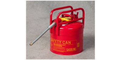 EAGLE - Model 1215 - D.O.T. Type II Safety Can, 5 Gal. Red, Galvanized Steel with 7/8 Flexible Hose