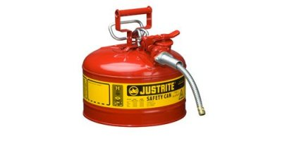 Justrite AccuFlow - Model 7225120 - Type II AccuFlow Steel Safety Can for Flammables 2.5 Gallon (Red with 5/8 Hose)