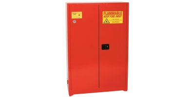 Eagle - Model PI-4510 - Paint & Ink Safety Cabinet, 60 Gal. Red, Two Door, Self Close