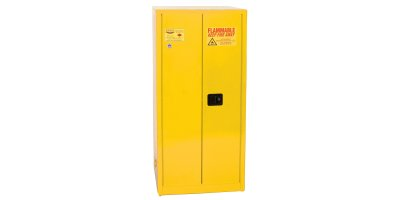 EAGLE - Model YPI-6010 - Paint & Ink Safety Cabinet, 96 Gal. Yellow, Two Door, Self Close