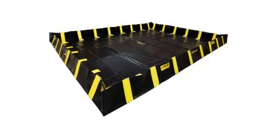 Justrite QuickBerm - Model JR-28534 - Spill Containment Berm with Inside Wall Supports - 4` x 6` x 12`