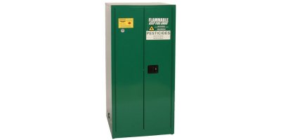 EAGLE - Model PEST6010 - Pesticide Safety Storage Cabinet, 60 Gal. Green, Two Door, Self Close