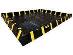 Justrite QuickBerm - Model JR-28546 - Spill Containment Berm with Inside Wall Supports - 12` x 16` x 12`