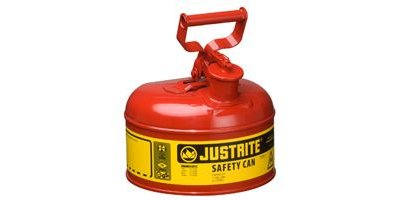 JUSTRITE - Model 7110100 - Type I Steel Safety Can 1 Gallon (Red)
