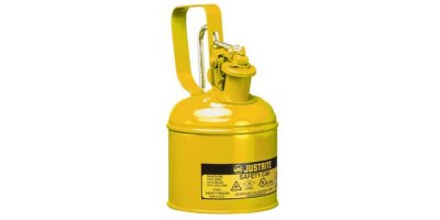 Justrite - Model 10111 - Type I Steel Safety Can with Trigger Handle for Flammables, 1 Quart (1L)