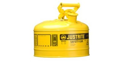 JUSTRITE - Model 7125200 - Type I Steel Safety Can for Flammables 2.5 Gallon (Yellow)