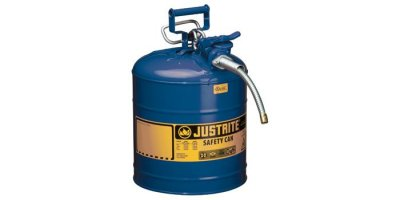 Justrite AccuFlow - Model 7250320 - Type II  Steel Safety Can for Flammables 5 Gallon (Blue with 5/8 Hose)