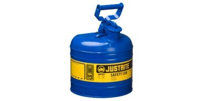 JUSTRITE - Model 7125310 - Type I Steel Safety Can for Flammables 2.5 Gallon (Blue with Funnel)