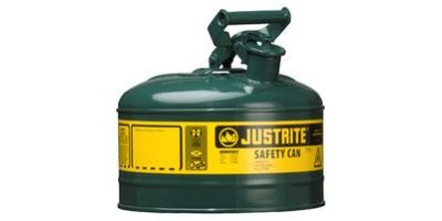 JUSTRITE - Model 7110400 - Type I Steel Safety Can for Flammables 1 Gallon (Green)