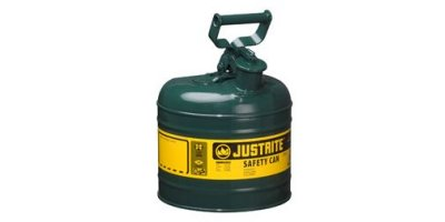 JUSTRITE - Model 7120400 - Type I Steel Safety Can for Flammables 2 Gallon (Green)
