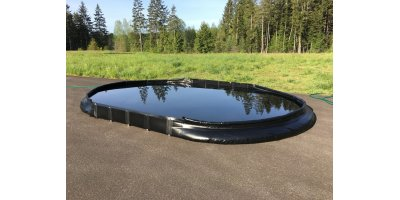 Drive Thru Spill Containment Berm - 15` x 66` x 12