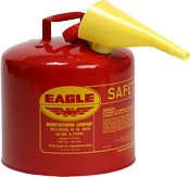 Eagle - Model UI-50-FS - 5 Gallon Metal Gas Can