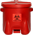 Eagle Claw - Model 945BIO - HDPE Biohazard Waste Can