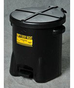 Eagle - Model 937-FLBK - 14 Gallon Black Oily Waste Can