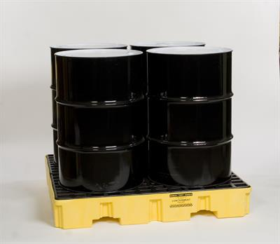 Eagle - Model 1645 - 4 Drum Spill Containment Pallet with Drain