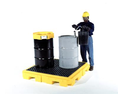 UltraTech - Model 9630 - P4 Plus Spill Pallet - 4 Drum - No Drain
