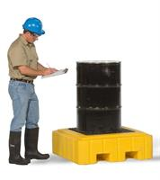 UltraTech - Model 9607 - Ultra-Spill Pallet P1 Plus - 1 Drum - With Drain