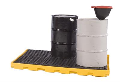 UltraTech - Model 1175 - One Piece Spill Containment Decks for 6 or 8 Drums