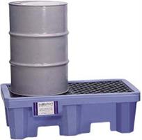 Ultra-Spill Pallet P2 Flourinated (2 Drum) With Drain