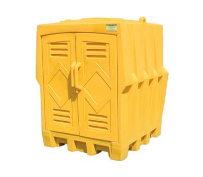Eagle - Model 1649 - Outdoor Storage Building Poly 4 Drum