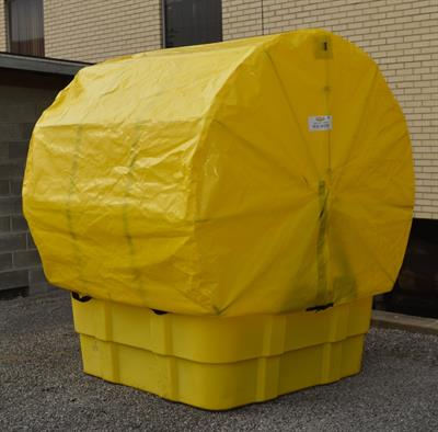 Eagle - Model EM-1683STC - IBC Containment Unit with Soft Top Cover & Poly Platform