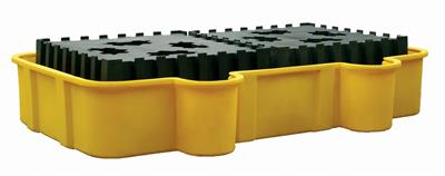 Eagle - Model 1684D - Double IBC Containment Unit - Yellow with Drain