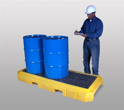 UltraTech - Model 9626 - Ultra-Spill Pallet P3 Plus 3 Drum Spill Pallet With No Drain