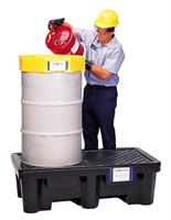 Model 2505 - Ultra-Spill Pallet P2 Economy - 2 Drum With Drain