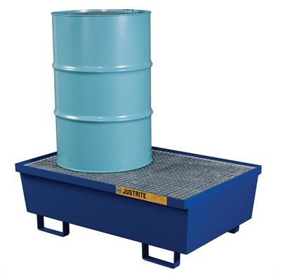 Justrite - Model 28610 - Spill Containment Pallet - Two Drum Blue