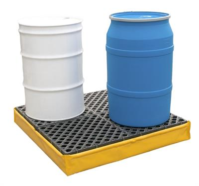 UltraTech - Model 1346 - 4 Drum Flexible Spill Pallet P4 - With Drain