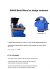AWAS - Model BWA - Band Filters for Sludge Treatment Brochure