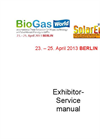 SolarEnergy 2013 - Exhibitor Service Manual