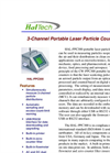 Model HAL-PPC300 - 3-Channel Portable Laser Particle Counter Brochure