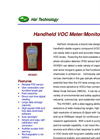 Model HFX501 - Handheld VOC Meter/Monitor Brochure