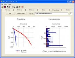 Geo2X - Version Win_Downhole - Inversion Software For Downhole Seismics Data