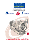 Installation, Use & Maintenance of Blowers & Exhausters User Manual