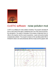 Canarina CUSTIC software (noise pollution modeling)