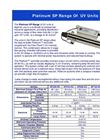 Platinum - Model SP - UV Units- Brochure