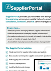 Supplier Portal Software Brochure