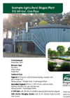 Example Agricultural Biogas Plant 210 kW incl. Gas Pipe Brochure (PDF 1.915 MB)