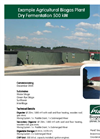 Example Agricultural Biogas Plant Dry Fermentation 500 kW Brochure (PDF 540 KB)